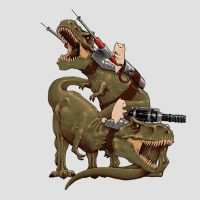 Cats Riding T-Rexs T-Shirt