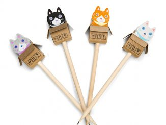 Cats in the Box Eraser and Pencil 4pc Set