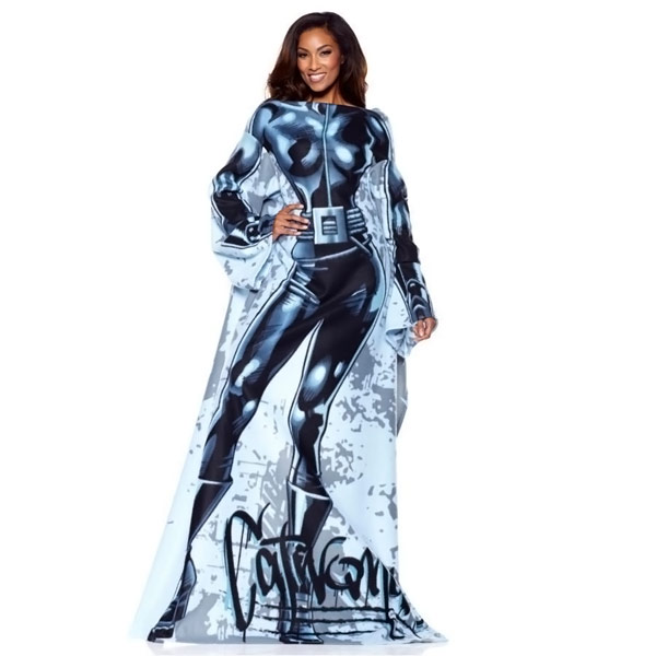 Catwoman Throw Blanket with Sleeves 9a7831d5f
