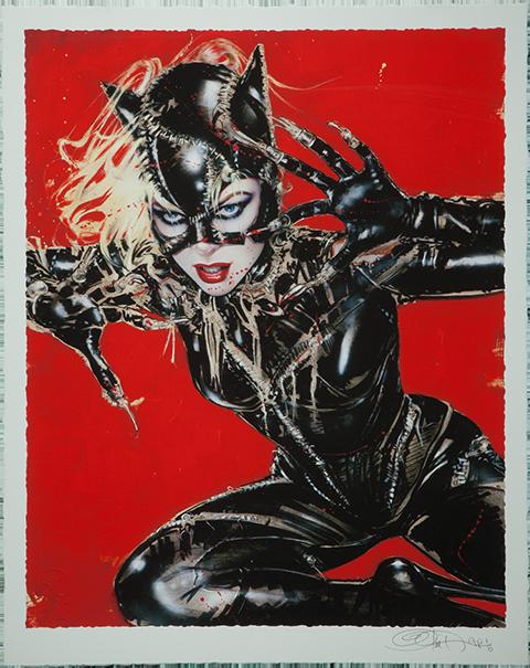 Catwoman Wildcat Art Print by Olivia De Berardinis