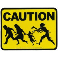 Caution Zombies Sticker