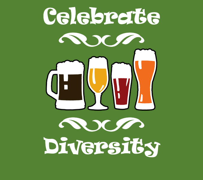 Celebrate Diversity Beer Lover St. Patrick's Day T-Shirt