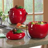 Ceramic Apple Shaped Compost Crock