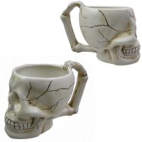 Ceramic Skull Coffee Mug