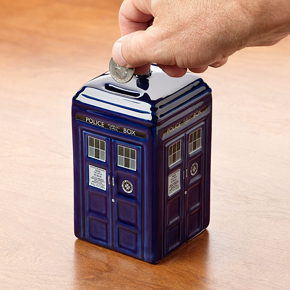Ceramic TARDIS Bank