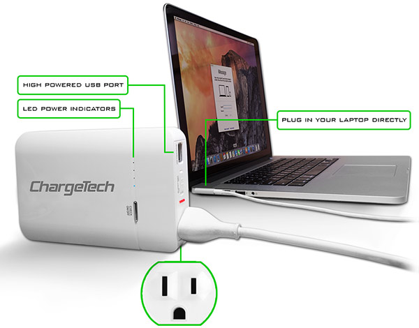 ChargeAll Portable AC Power Outlet Battery Charger