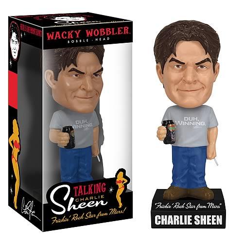 Charlie Sheen Talking Wacky Wobbler