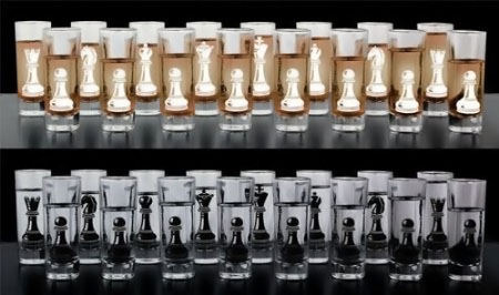 Chess Shot Glass Set