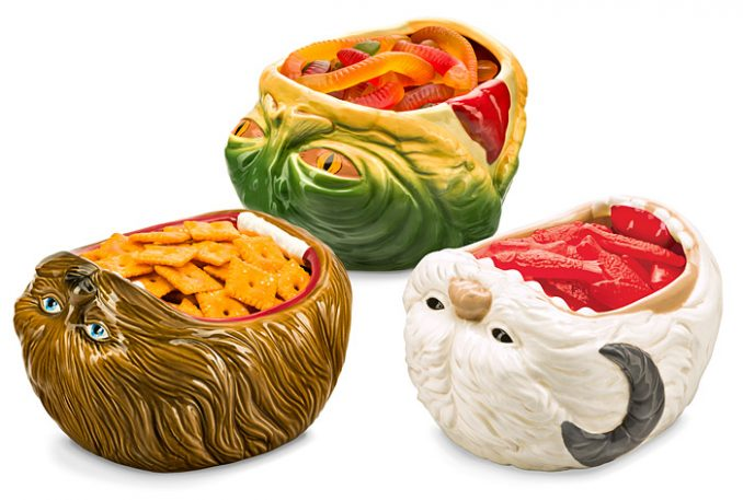 Chewbacca, Jabba the Hutt, and Wampa Ceramic Party Bowls