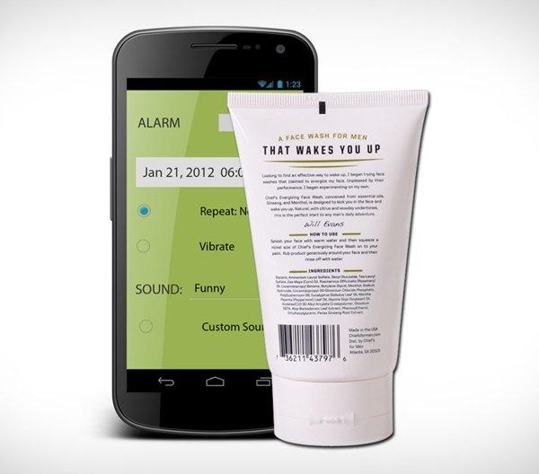 Chiefs Energizing Face Wash & Alarm App
