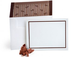 Chocolate Flavored Envelopes with Note Cards