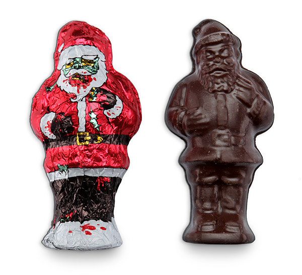 Chocolate Santa Zombie