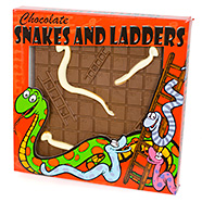 Chocolate Snakes and Ladders Edible Board Games