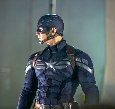 Chris Evans in Captain America Winter Soldier