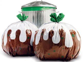 Christmas Pudding Trash Bag