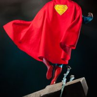 Christopher Reeve Superman Premium Format Figure Back