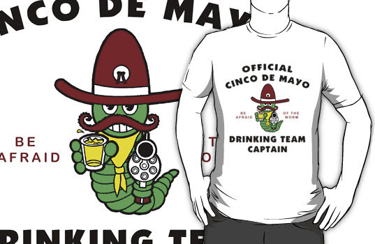 Cinco de Mayo Drinking Team Captain T-Shirt