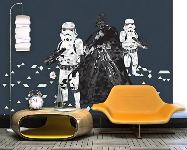 Star Wars Mural Hot Girls Wallpaper
