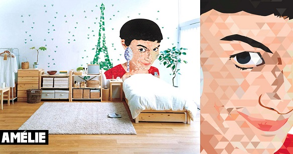 Cinematographics Wall Mural Amelie