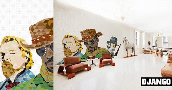 Cinematographics Wall Mural Django Unchained