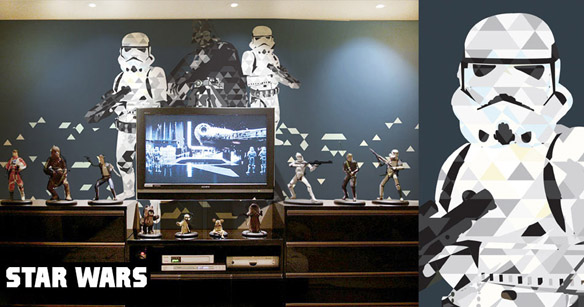 Cinematographics Wall Mural Star Wars