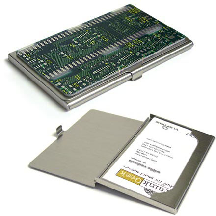Circuitboard Business Card Case