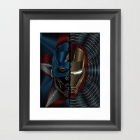Civil War Captain America Iron Man Art Print