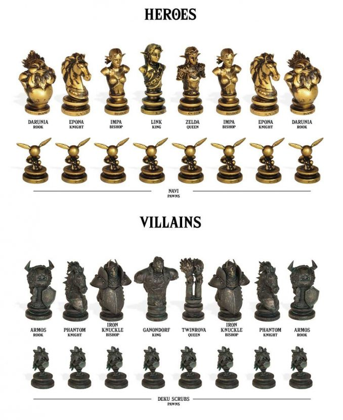 Classic Legend of Zelda Collector's Chess Set