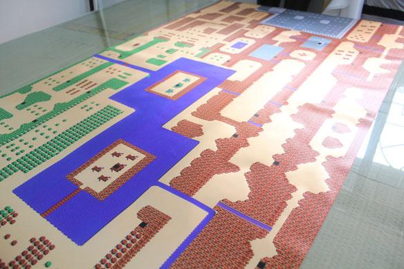 Classic NES Zelda Inspired Map