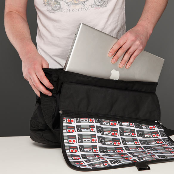 Classic Nintendo Reversible Messenger Bag