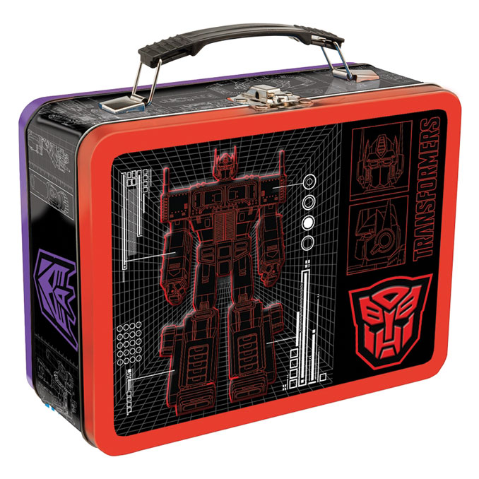 Classic Optimus Prime Transformers Large Tin Tote