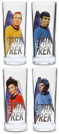 Classic Star Trek 10oz Glass Set