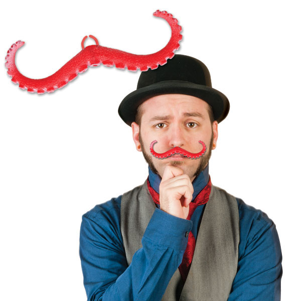 Clip on Tentacle Mustache