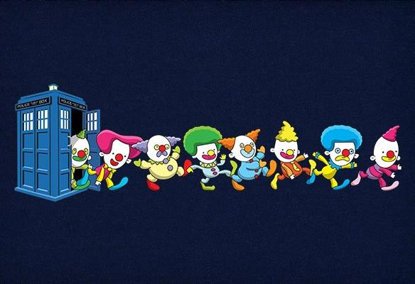 Clown Tardis t-shirt
