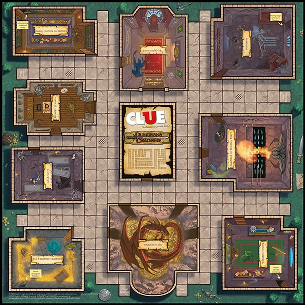 Clue Dungeons and Dragons Board Game