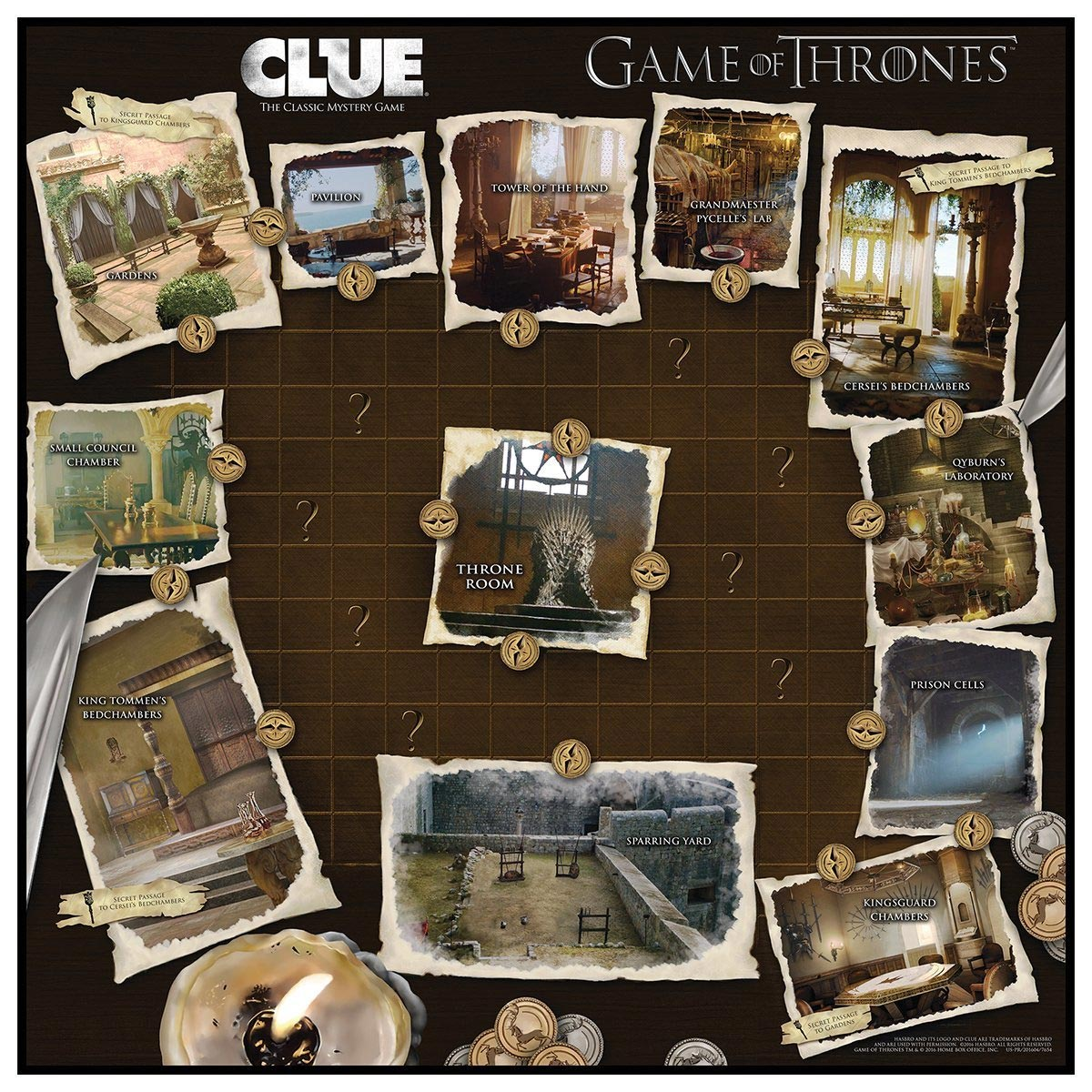 how to play game of thrones clue