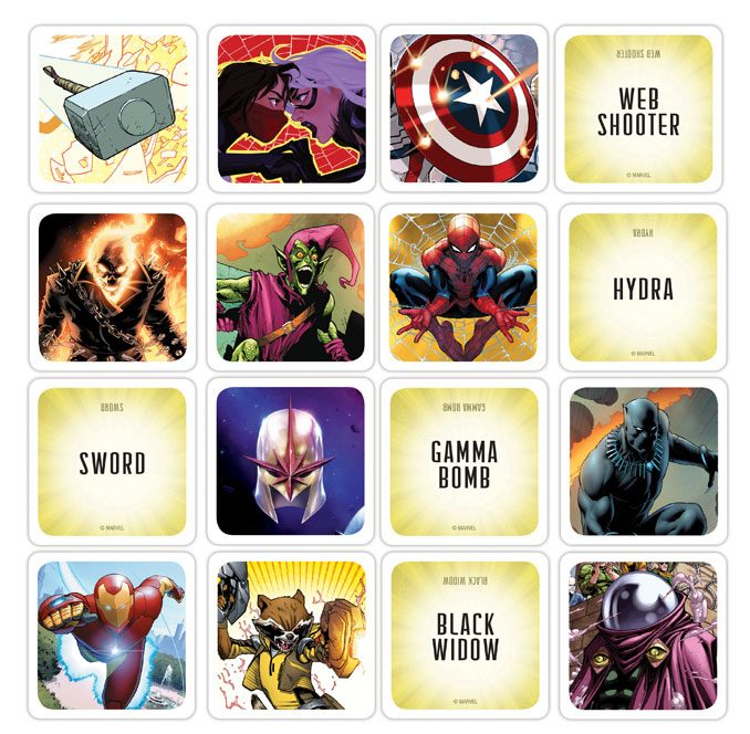 Codenames Marvel Edition Game