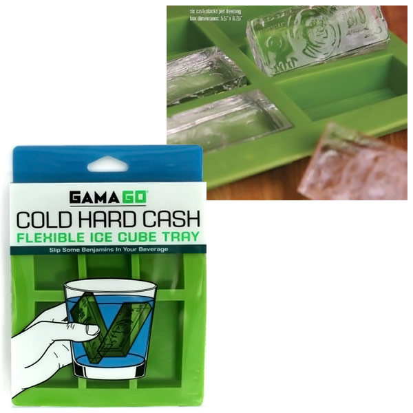 Cold Hard Cash Ice Tray