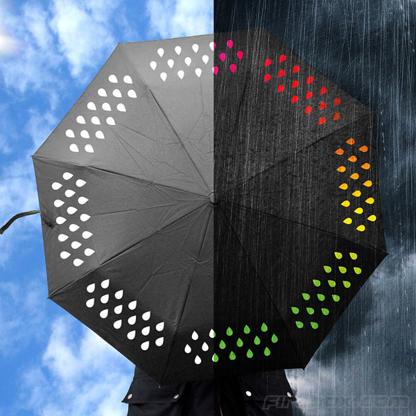 Color Changing Umbrella - Rain Drops