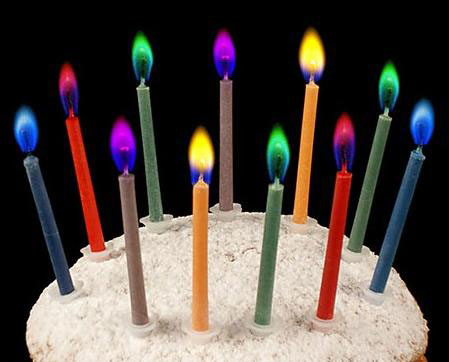 Colored Flames Candles