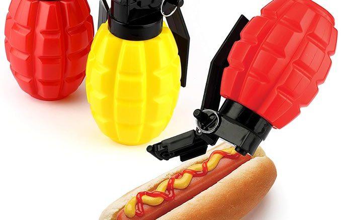 Combat Condiments Grenade Shaped Dispensers