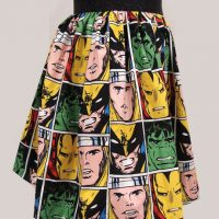 Comic Book Block Skirt