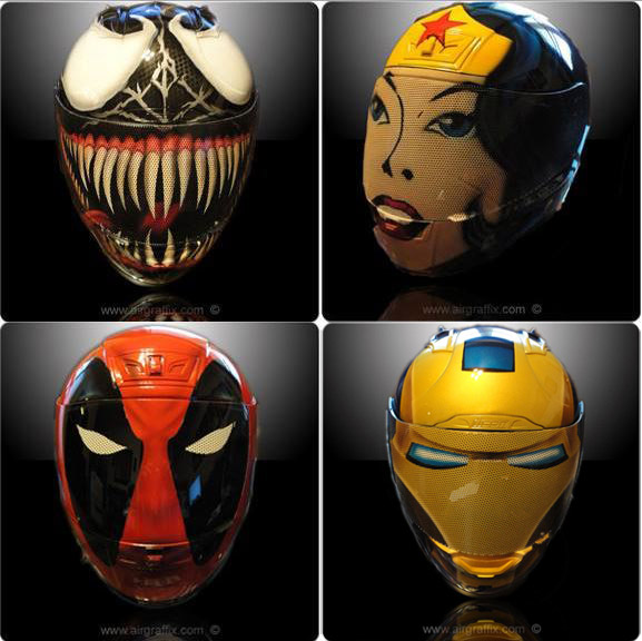 Comic Book Character Motorcycle Helmets