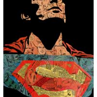 Comic Collage Art - Christopher Reeve as Superman