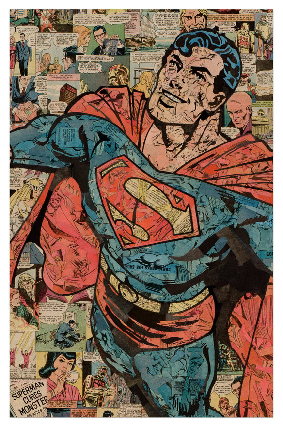 Comic Collage Art - Superman