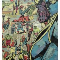 Comic Collage Art - Thanos
