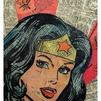 Comic Collage Art - Wonder Woman