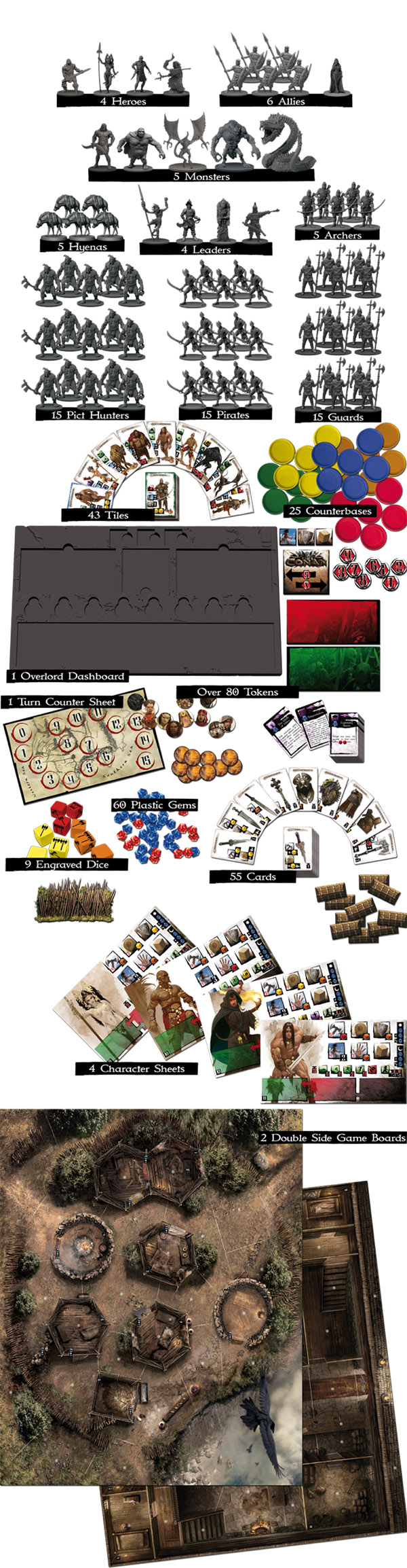 Conan Board Game Contents