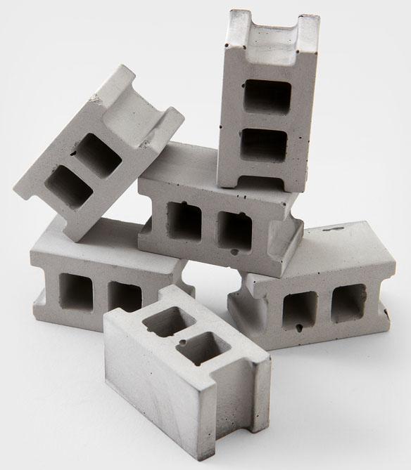 Concrete Block Magnet Set