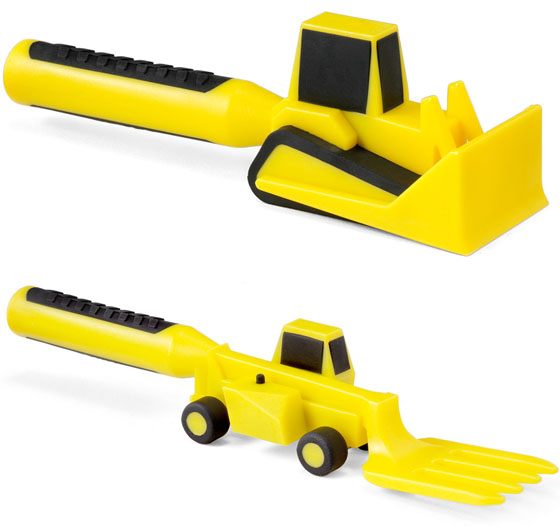 Construction Plate With Construction Vehicle Utensils